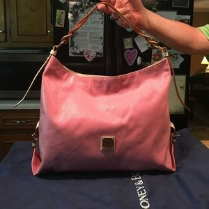 Dooney & Bourke Bags - D&B Pink Pebbled Canvas Coated CarryAll & Cover
